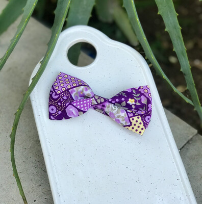 Lilac Pattern Bowtie