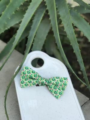 Green Pattern Bowtie