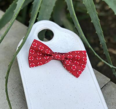 Red Pattern Bowtie