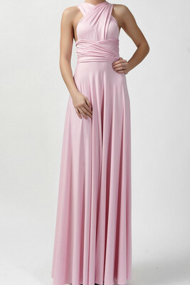Tanya Infinity dress long- pink size medium