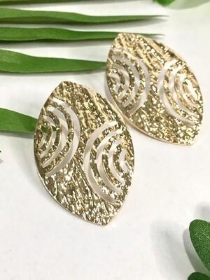 Gold Shield Earrings