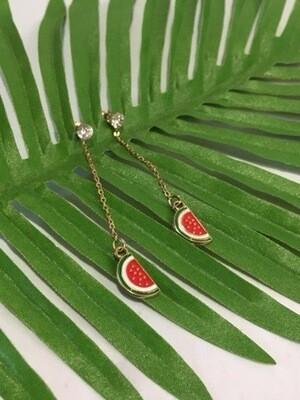 Watermelon Drop Earrings