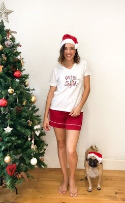 Christmas T-shirt and short set