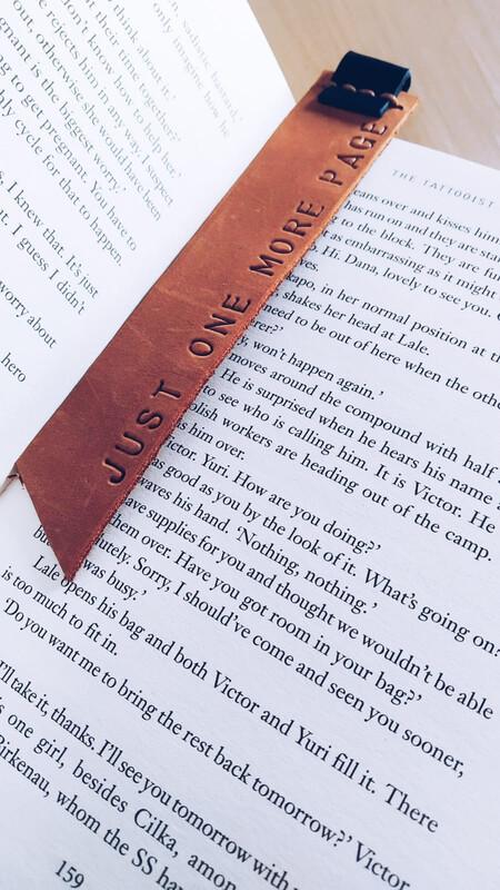 Rugged Moose Leather Bookmark