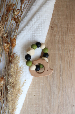 Olive Silicone Teether