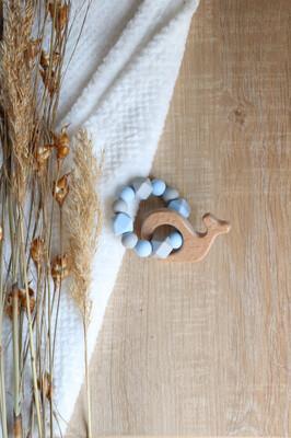 Blue & Grey Silicone Teether