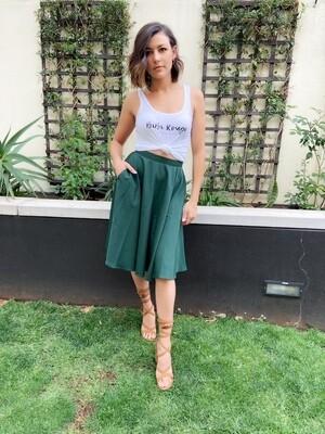 Audrey Mini Skirt forest green size 30