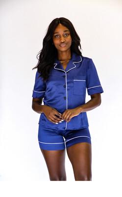 Sapphire blue pajama set