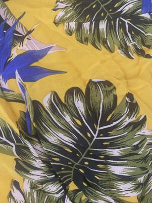 Mustard tropical pajama set