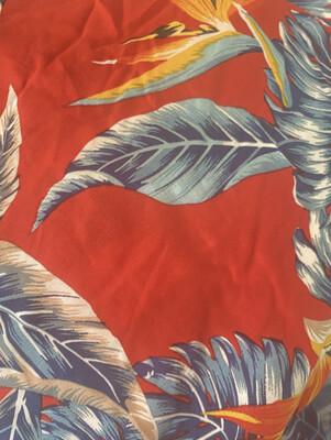 Red tropical pajama set