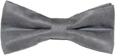Grey Suede Bowtie