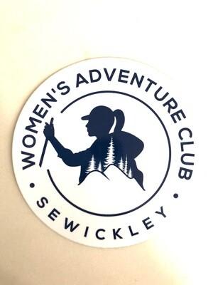 "4"" x 4"" Car Sticker - Women's Adventure Club Logo"
