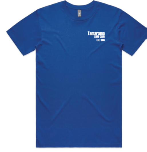 Classic tee - Mens Royal Blue with white print - Limited Size
