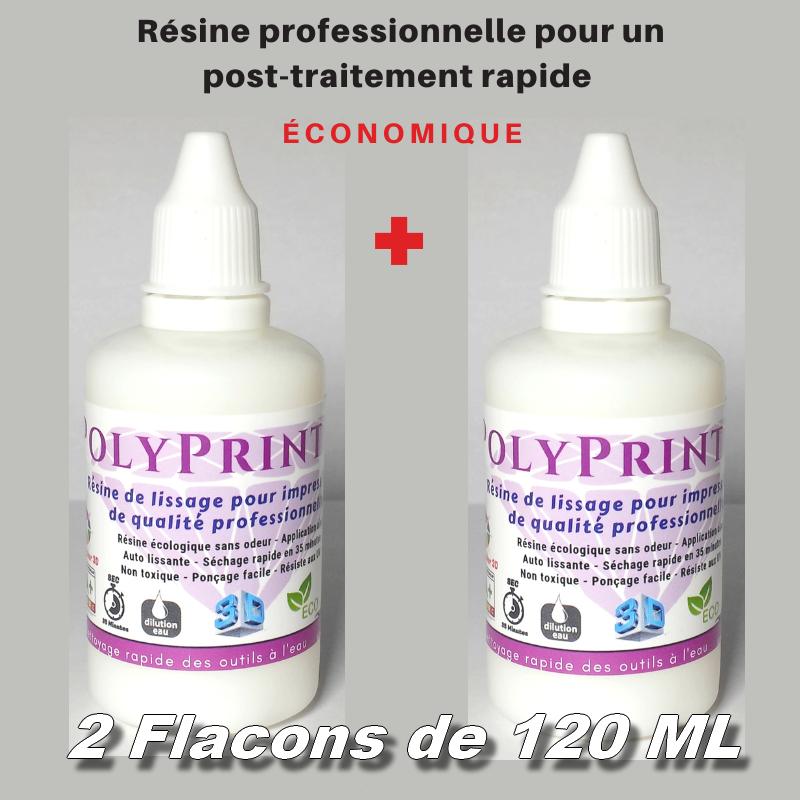 Résine de lissage et de rebouchage professionnelle 120 ml X 2