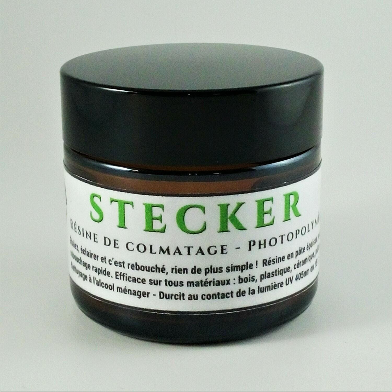 Résine Potopolymère de Colmatage en 15 s STECKER 60 g