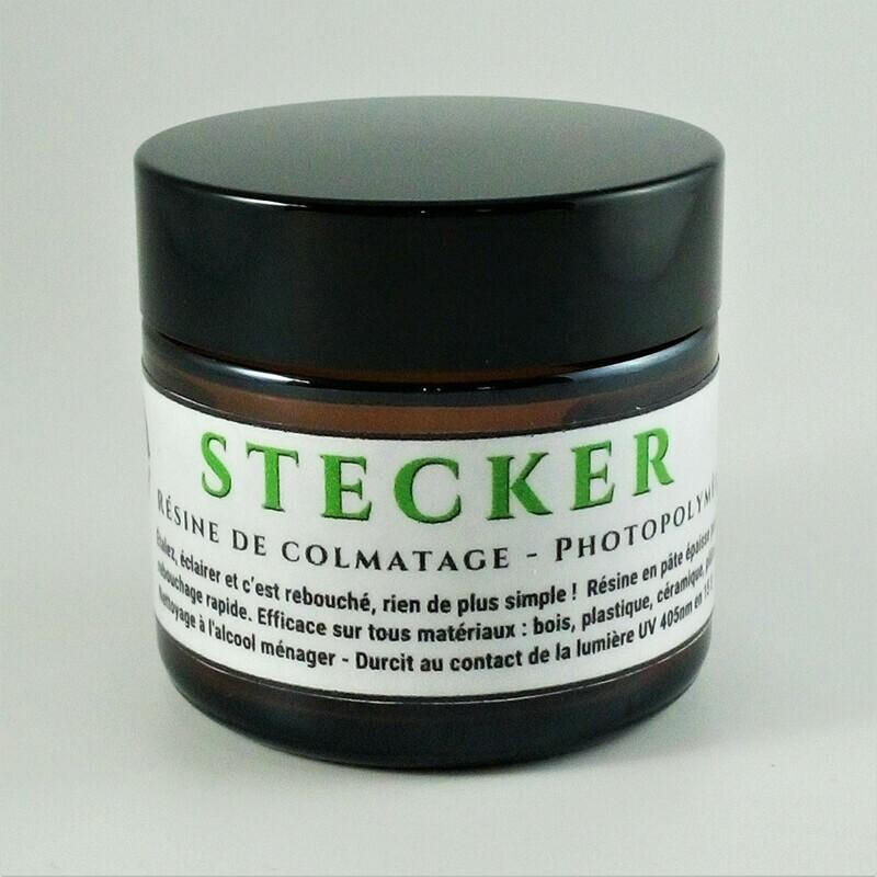Résine Photo-Polymère de Colmatage en 15 s STECKER 60 g