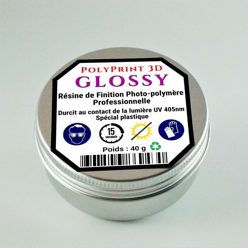 Résine Photo-Polymère de Finition Brillante GLOSSY ECO  40 g