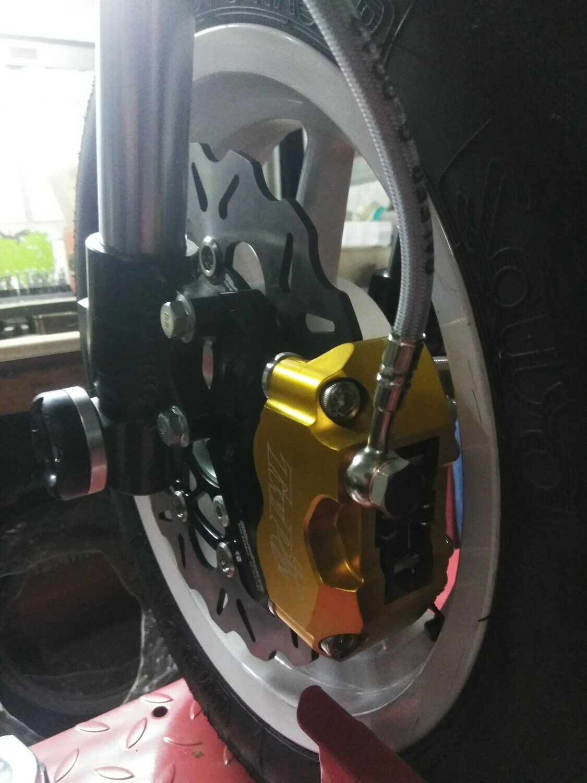 KAYO MiniGP MR125 - 2020 MiniGP MR150R 245mm Floating Rotor Big Brake Kit with 4 Piston Caliper and Mounting Bracket