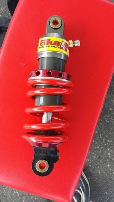 ELKA 218mm Custom Made Rear Shock: Fully Adjustable Rebound Clicker Control fits MiniGP MR125 and MR150R Models