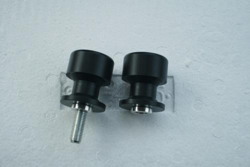 10mm Swing Arm Spools For Kawasaki Ninja 250R 300R 400R 500R 650R 750 Black