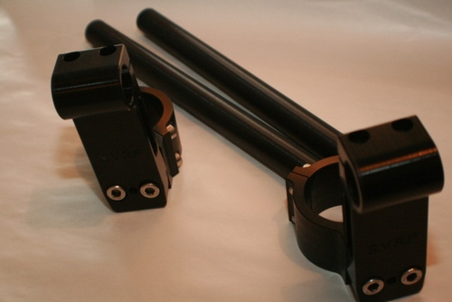 SVRP Black Clip On Riser Bar Sets with 2.5 or 3.5 inch Risers