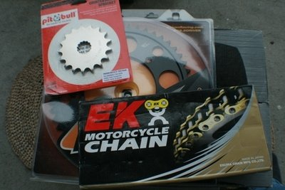 SV650s - SV650N - SFV650 Gladius Models 525 Chain and Sprocket Combinations