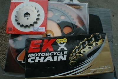SV1000 530 Chain and Sprocket Combination