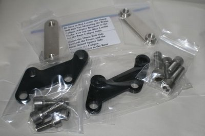 DL650 Brake Caliper Adapter Brackets
