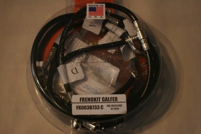 Galfer 2012 DL650 abs Front and Rear SS Brake Line Kit