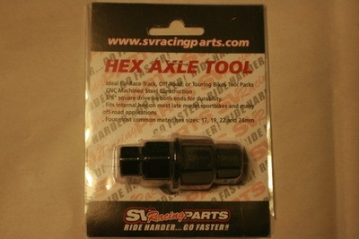 Black Multi-Size Steel Hex Axle Tool