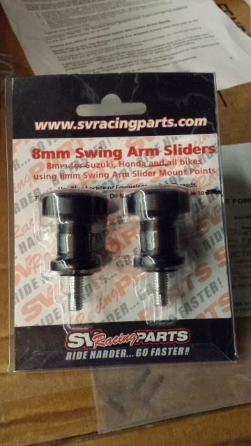 8mm Race Swing Arm Sliders with Spools