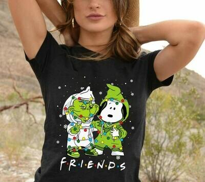 The Grinch Stole Christmas Snoopy Woodstock Charlie Brown Snowman Merry Grinchmas Xmas Tree Merry Christmas 2019 Gifts Noel T-Shirt Long Sleeve Hoodie Sweatshirt