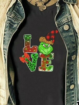 Love Grinch shirt,The Grinch Resting Grinch Face Merry Christmas Xmas Gift Noel Holly Jolly Holiday Family Vacation Friend Team Party TShirt T-Shirt Long Sleeve Hoodie Sweatshirt