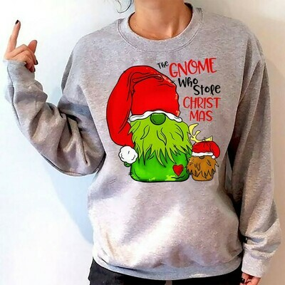 The Gnome Who Stole Christmas Just Hangin' With My Gnomies Funny Christmas Dwarf Gift T-Shirt Gnomes Holiday Gnome Christmas Gnome elf shirt Jolly Family Gifts