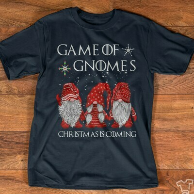 Three Gnomes Shirt Game Of Gnomes Christmas Is Coming Gnome Lovers Tee Gnome Heart t shirt Gnome Christmas T-Shirt Gifts Jolly Family Gifts