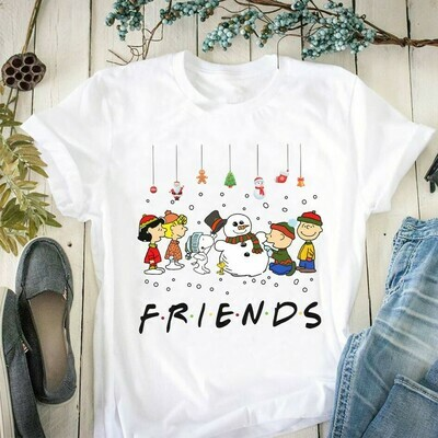 Snoopy Charlie Brown And Peanuts Friends Halloween Costume,Love Cartoon Gifts Best Friends Family Party Vacation Unisex T-Shirt Jolly Family Gifts