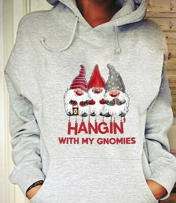 Three Gnomes Shirt Hangin' With My Gnomies Gnome Lovers Tee Gnome Heart t shirt Gnome Christmas T-Shirt Gifts Jolly Family Gifts