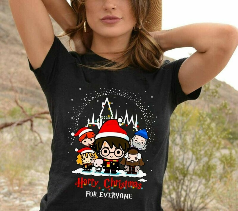 Harry Potter Satan Harry Christmas Lovers Halloween Christmas Noel Costume Gifts for Best Friend Family Vacation T-Shirt Jolly Family Gifts