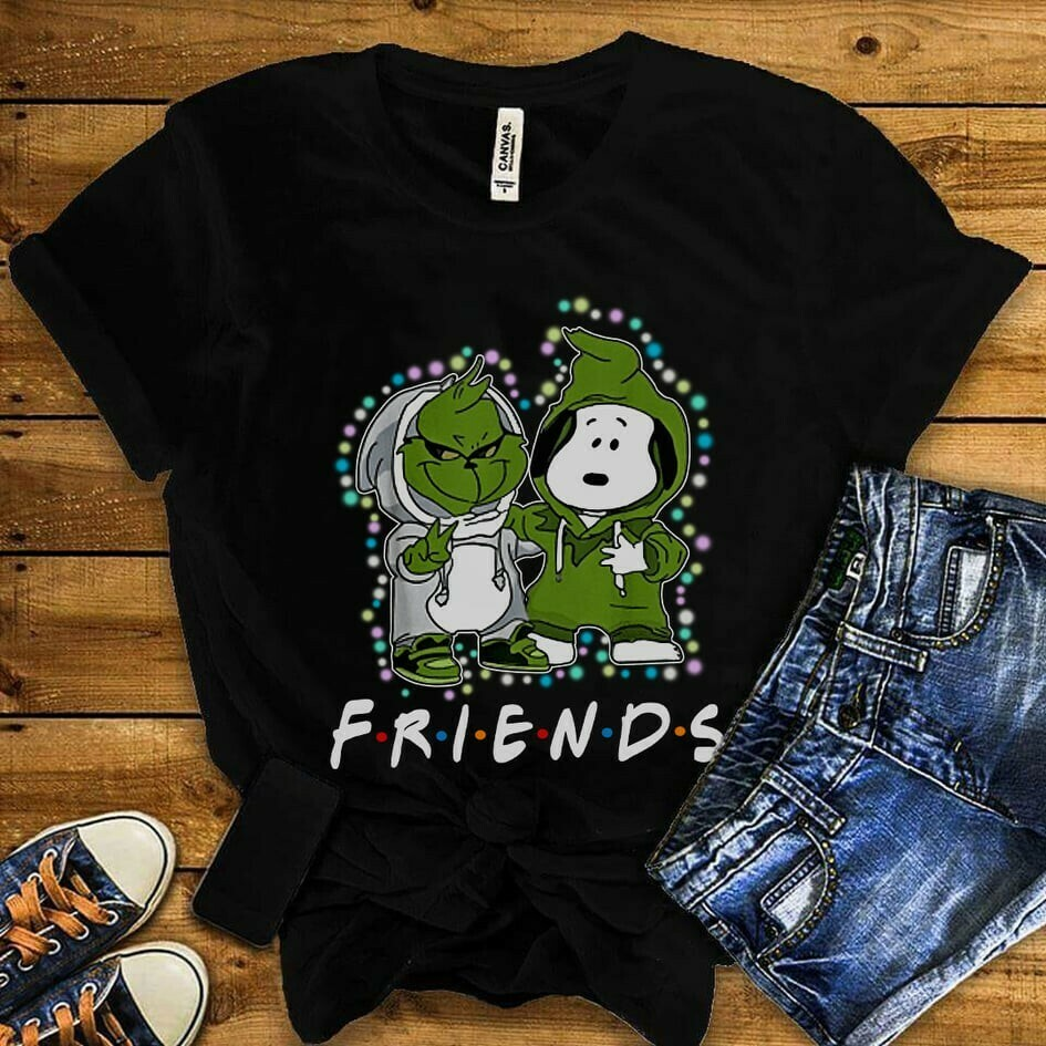The Grinch Stole Christmas Snoopy Woodstock Charlie Brown Snowman Merry Grinchmas Xmas Tree Merry Christmas 2019 Gifts Noel T-Shirt Jolly Family Gifts
