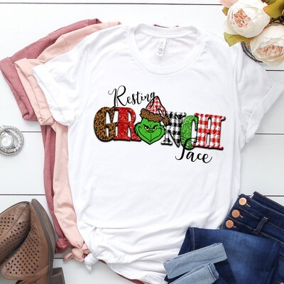 The Grinch Resting Grinch Face h Merry Christmas Gift For Lovers Merry Christmas Noel Family Vacation Friends Team Party T-Shirt Jolly Family Gifts