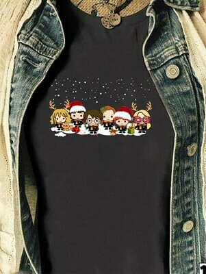 Harry Porter And Friends Merry Christmas Lovers Halloween Christmas Noel Costume Gifts for Best Friend Family Vacation T-Shirt Long Sleeve Sweatshirt Hoodie Jolly Family Gifts