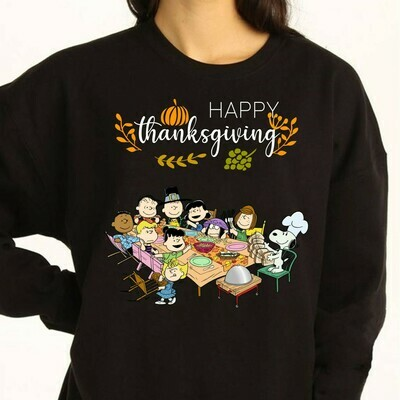 Happy Thanksgiving Snoopy and Family Shirt,snoopy turkey shirt,Thanksgiving Shirt,family matching Tee,Snoopy thanksgiving Long Sleeve Sweatshirt Hoodie Jolly Family Gifts