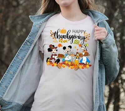 Disney Mickey Minnie Happy Thanksgiving Matching Family shirts,Disney Family Pilgrim Shirts,Thanksgiving Family Shirt,Disney Turkey Shirts Long Sleeve Sweatshirt Hoodie Jolly Family Gifts