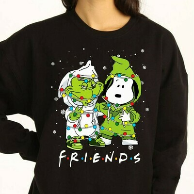 The Grinch Stole Christmas Snoopy Woodstock Charlie Brown Snowman Merry Grinchmas Xmas Tree Merry Christmas 2019 Gifts Noel T-Shirt Long Sleeve Sweatshirt Hoodie Jolly Family Gifts