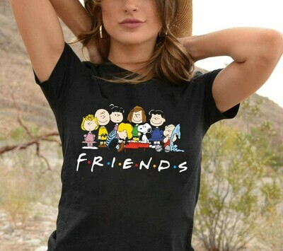 Funny Snoopy Charlie Brown And Peanuts Friends Halloween Costume, Love Cartoon Gifts Best Friends Family Party Vacation Unisex T-Shirt Long Sleeve Sweatshirt Hoodie Jolly Family Gifts