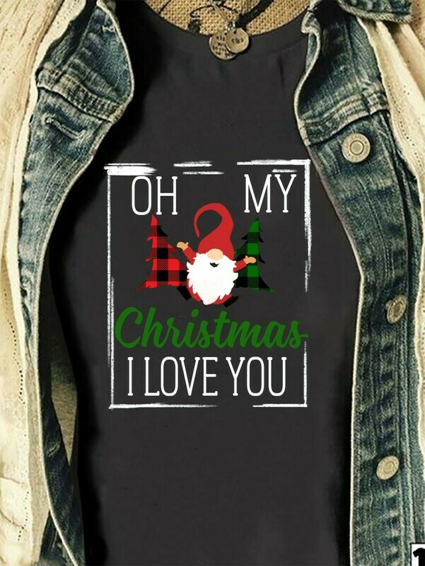 Oh My Christmas I Love You Three Gnomes Shirt Hangin' With My Gnomies Gnome Lovers Tee Gnome Heart t shirt Gnome Christmas T-Shirt Gifts Long Sleeve Sweatshirt Hoodie Jolly Family Gifts