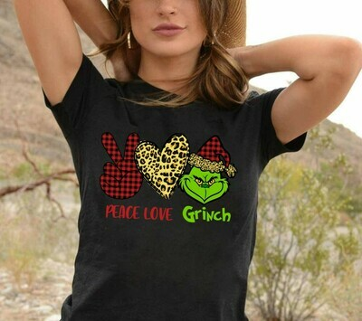 Peace Love Grinch Resting Grinch Face Merry Christmas Gift For Lovers Merry Christmas Noel Family Vacation Friends Team Party T-Shirt Long Sleeve Sweatshirt Hoodie Jolly Family Gifts