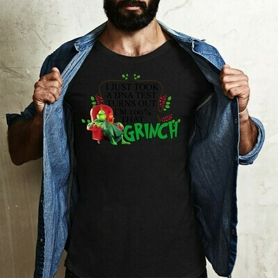 I Just Took A DNA Test Turns Out I'm 100% That Grinch,Resting Grinch Face Shirt,Christmas Grinch Tee,Grinch Christmas,Don't be a Grinch Long Sleeve Sweatshirt Hoodie Jolly Family Gifts
