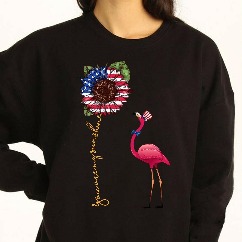you are my sunshine flamingo Long Sleeve Sweatshirt Hoodie Jolly Family Gifts