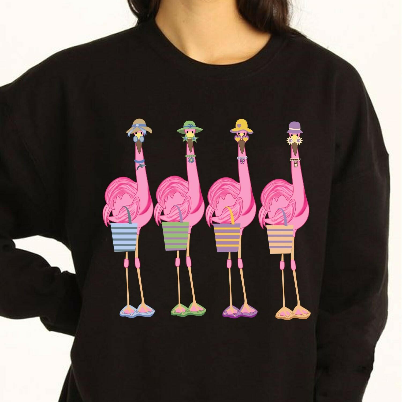 flamingo Long Sleeve Sweatshirt Hoodie Jolly Family Gifts